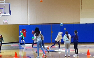 Fourth Graders are Learning Valuable skills in P.E. Class