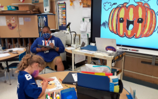 Todd Students are Learning about Art While Making Halloween-Themed Decorations