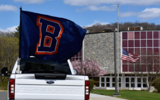 Briarcliff Middle School Staff Holds a Car Parade and Drives Through Town