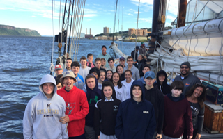 AP Environmental Science and Marine Biology Classes Sail the Hudson