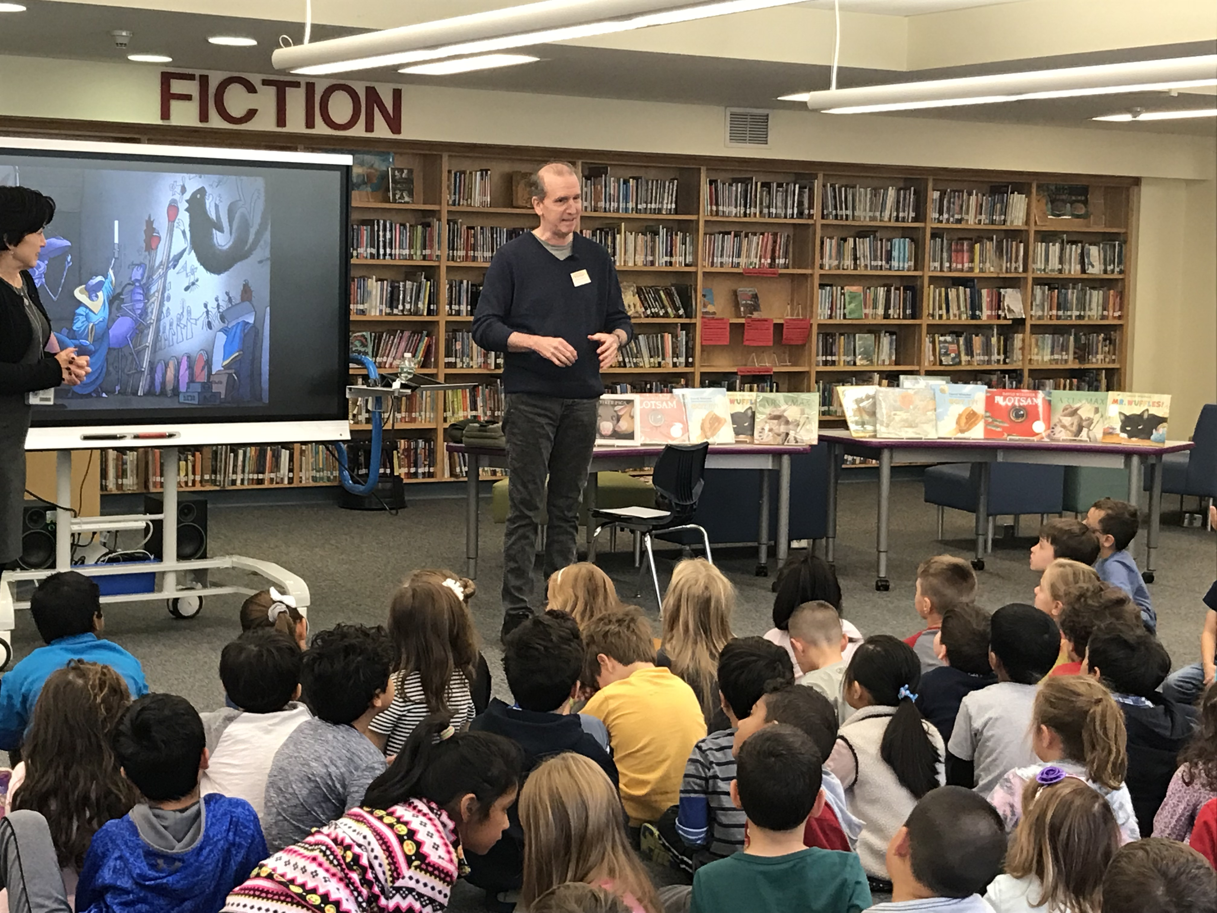 Illustrator and Author David Wiesner Visited with Kindergarten, First, and Second Grades
