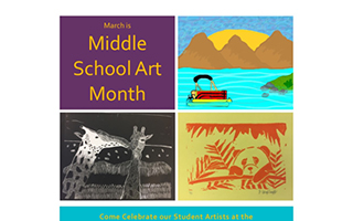 March Means Middle School Art at the Briarcliff Manor Library