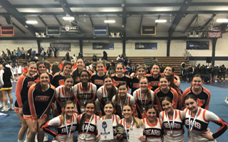 Varsity Cheerleaders competed in the Pocono Regional event and placed top 3. Next stop: National High School Championship in Orlando, Florida.