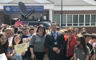 NBC4 WeatherKids Tapes Segment at Todd Elementary